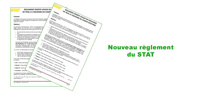 Règlement du STAT mis à jour