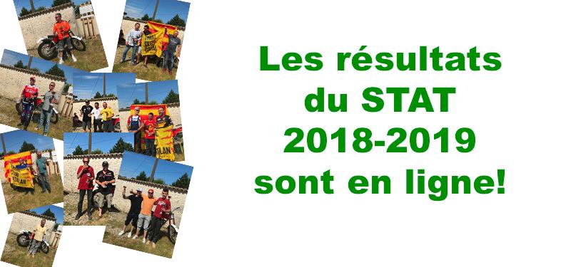 Les résultats du STAT 2018-2019